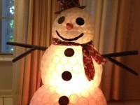 Снеговик из пластиковых стаканчиков своими руками пошагово — инструкция с фото и описанием