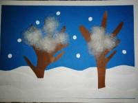 Зимняя аппликация (150 фото) — инструкция по созданию аппликации своими руками, примеры лучших вариантов для школы